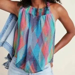 Anthropologie Conditions Apply Prismatic Blouse M